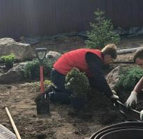 Рабочий в садовый центр